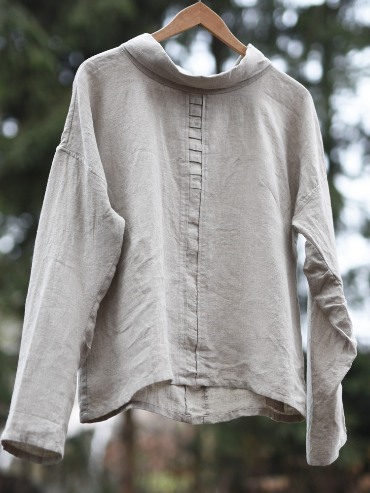 lniana bluzka letnia przewiewna