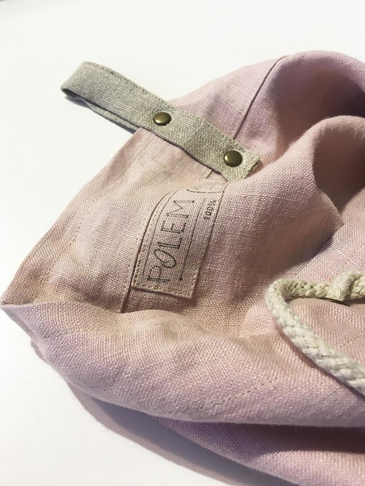 lniany worek różowy