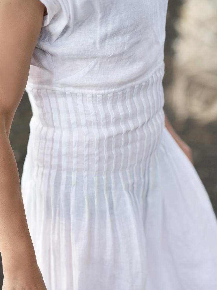 letnia lniana sukienka