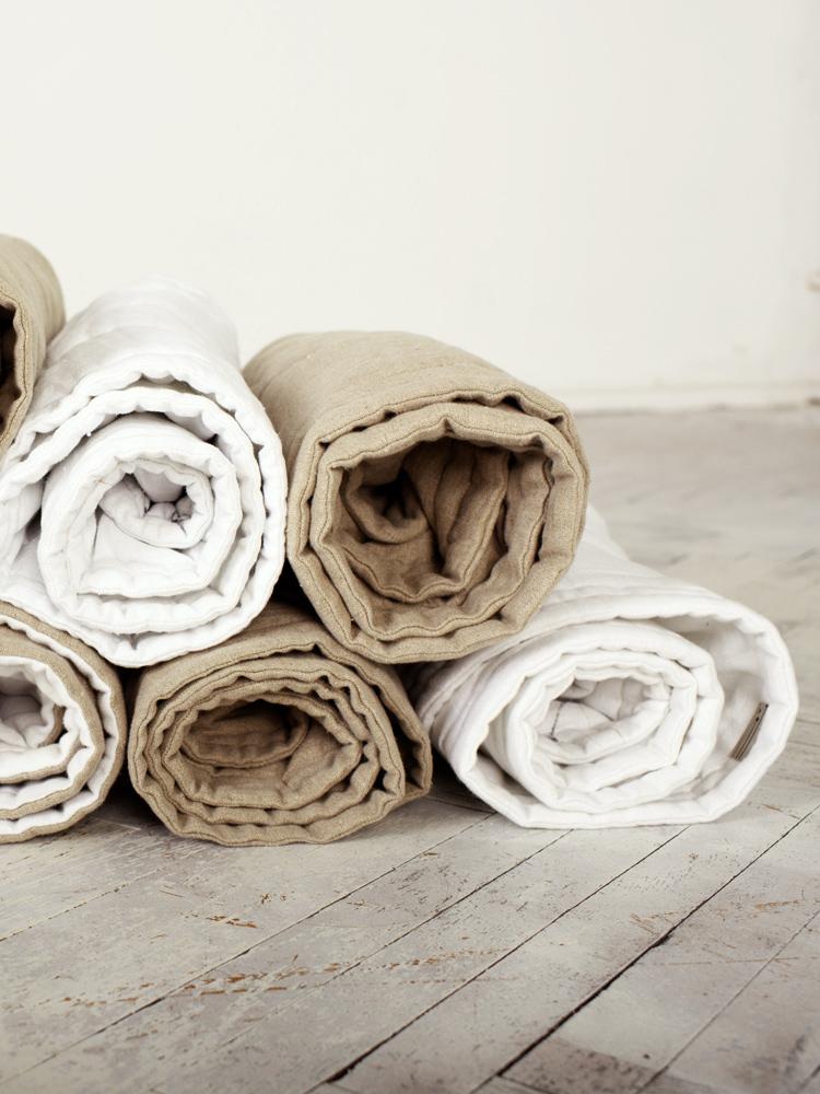 lniany dywan
