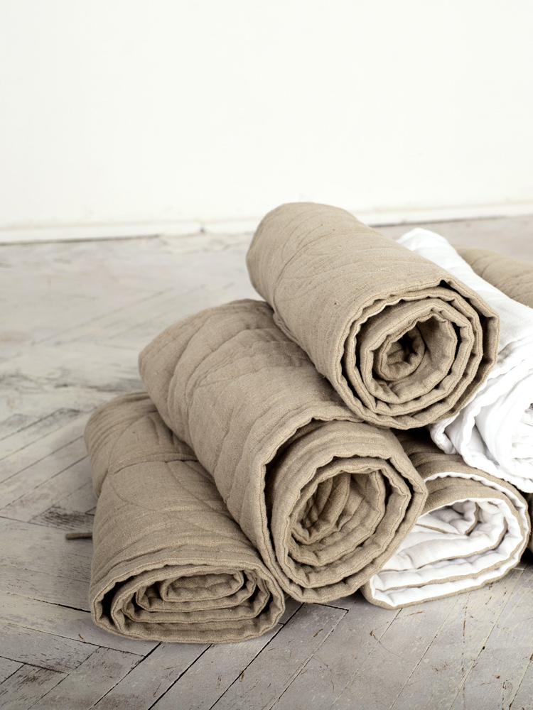 lniany dywan naturalny