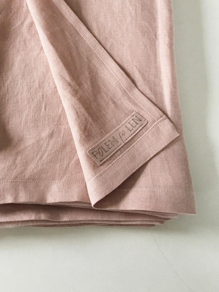 ręcznik lniany róż