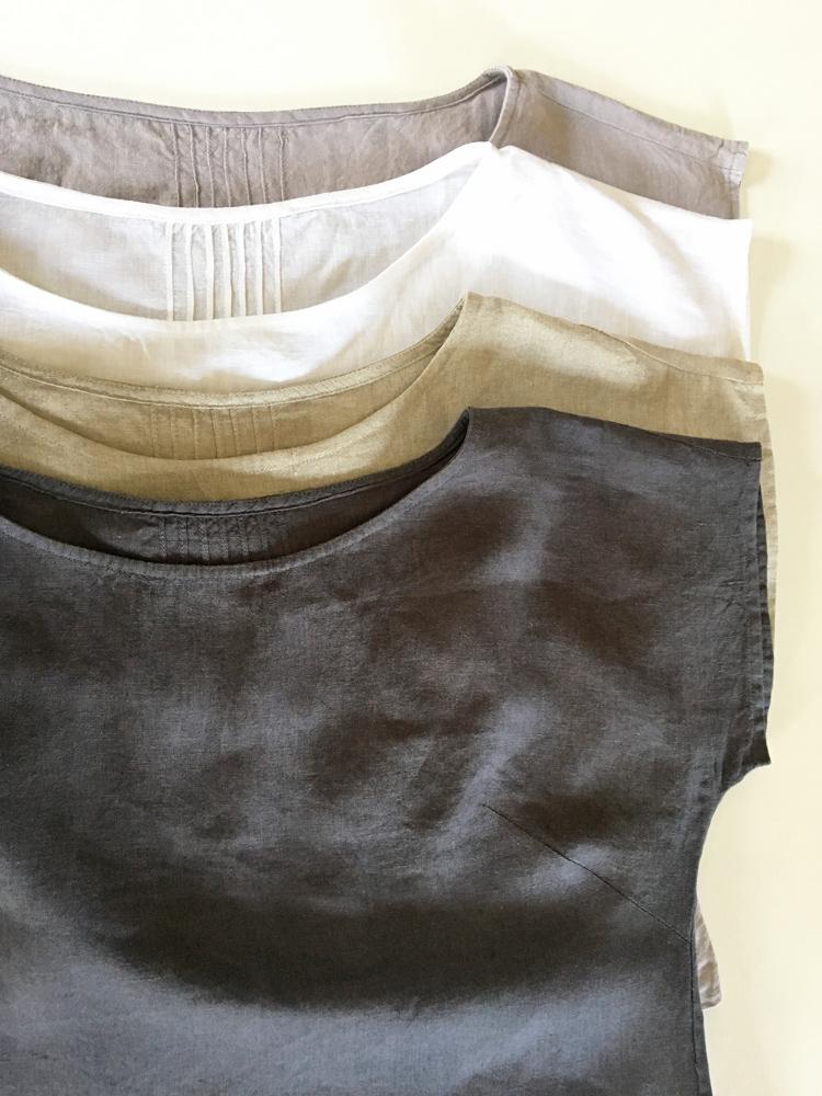 koszulka lniana biała krótki rękaw