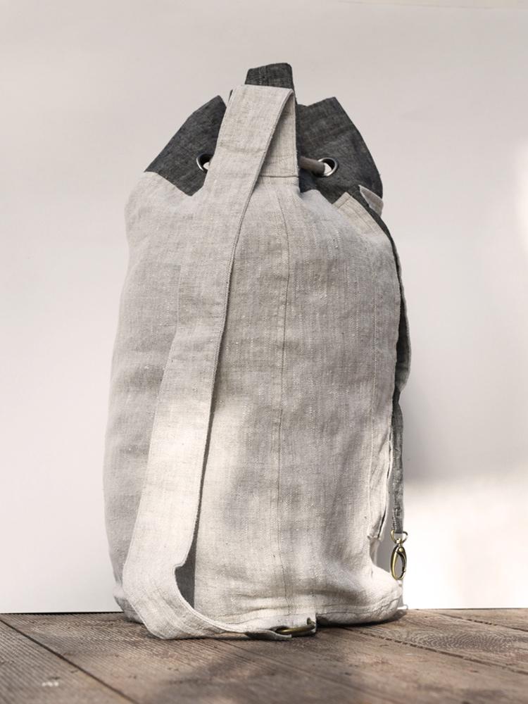 lniana torba sportowa