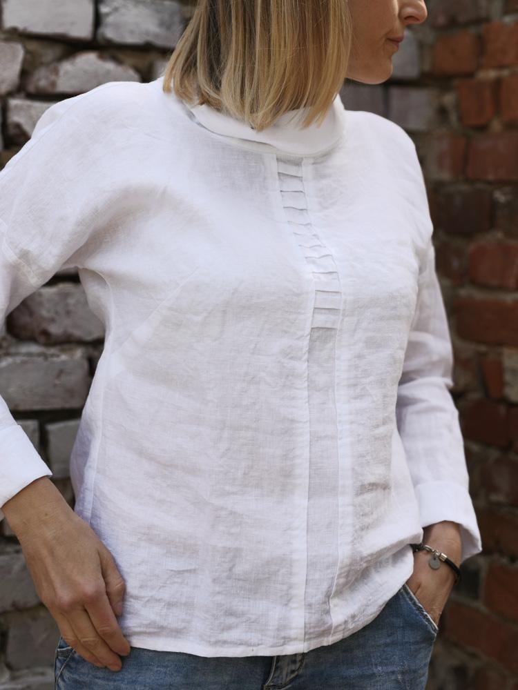 lniana koszula biała