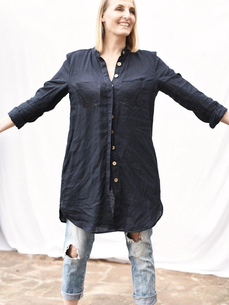 wygodna lniana koszula