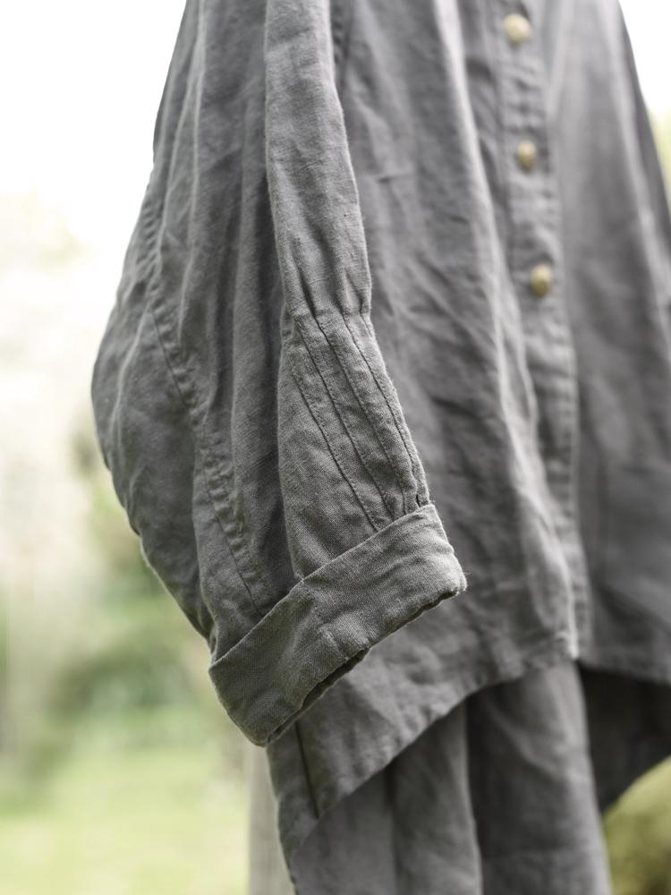 lniana bluza na guziki