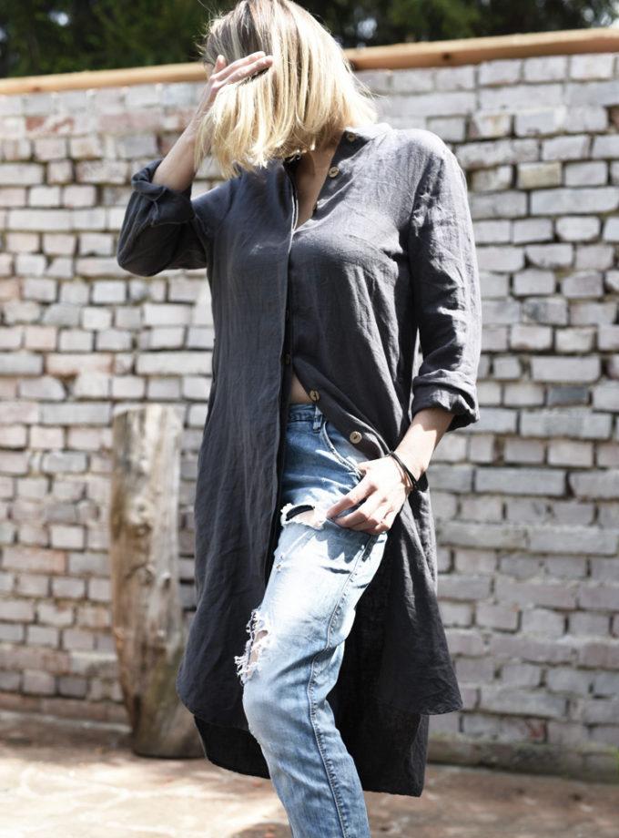 lniany płaszcz