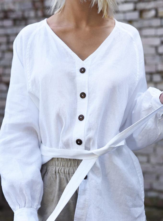 lniana koszula z guzikami