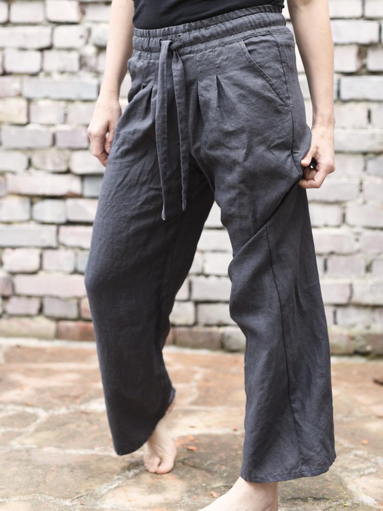 wygodne lniane spodnie