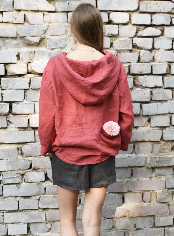 bluza z lnu czerwona