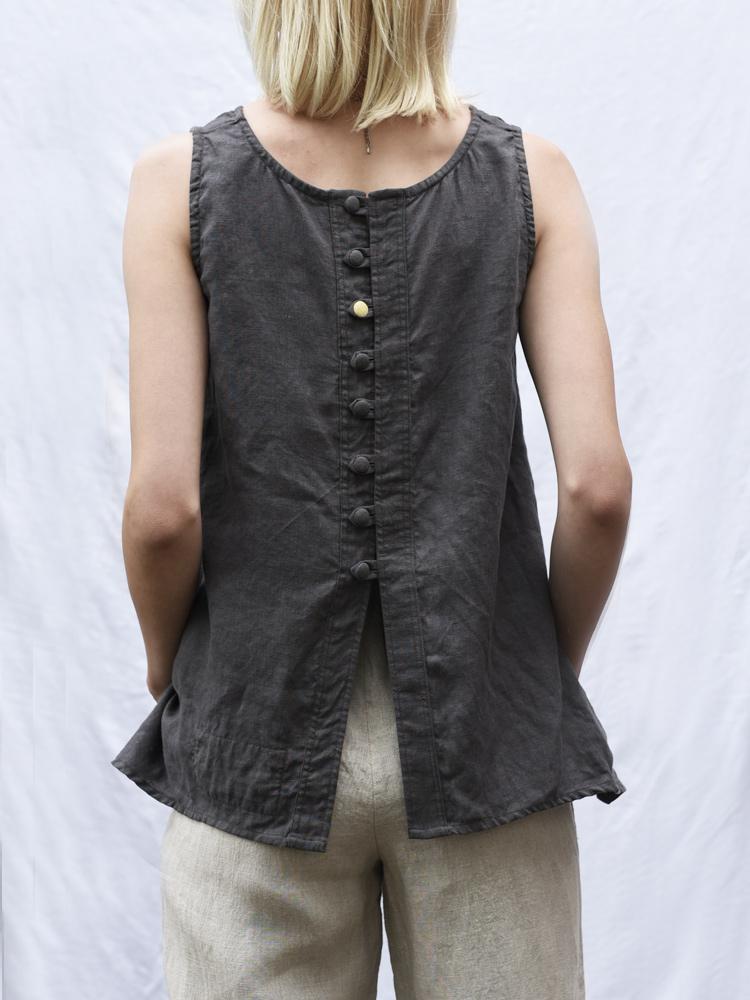 lniana bluzka z guzikami