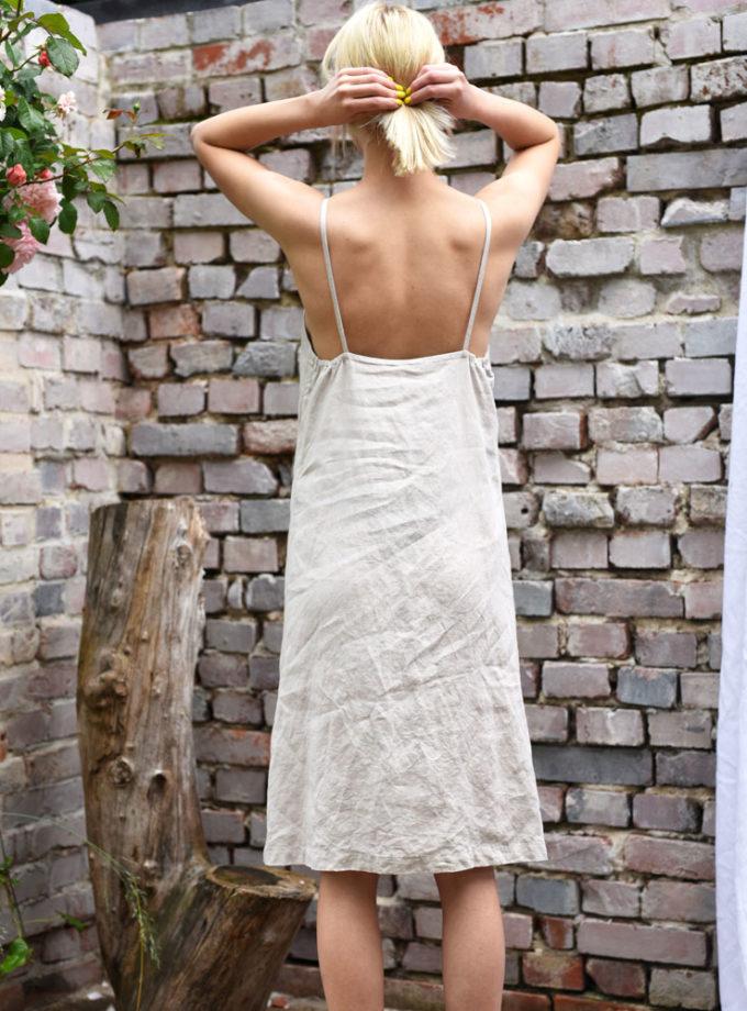sukienka z lnu na ramiaczkach