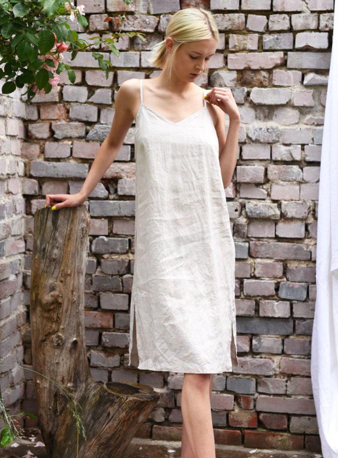 sukienka z lnu midi