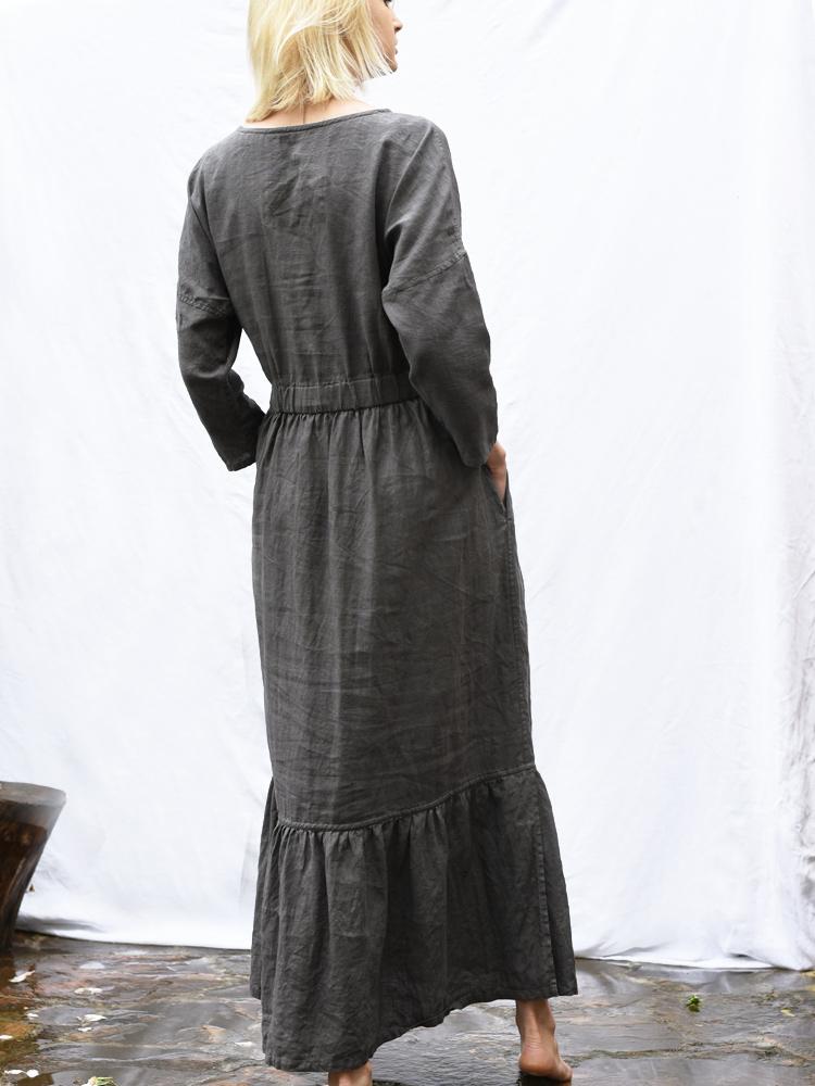 lniana luźna sukienka