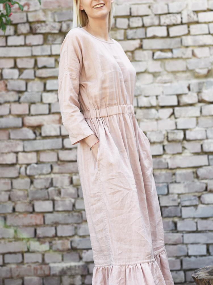 letnia sukienka z lnu