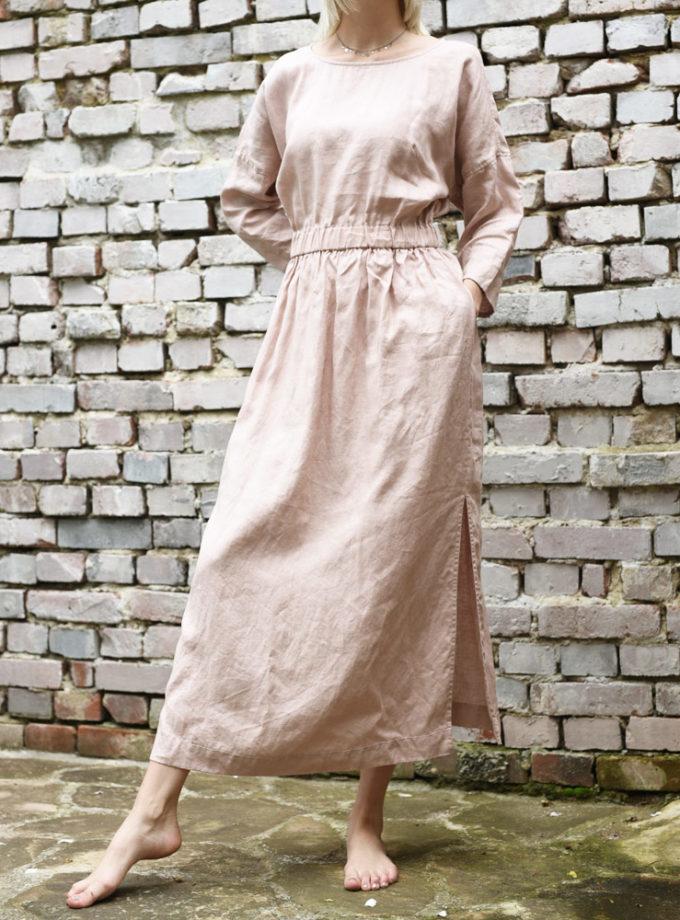 długa lniana sukienka