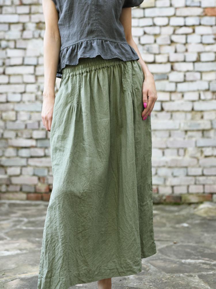 długa lniana spódnica