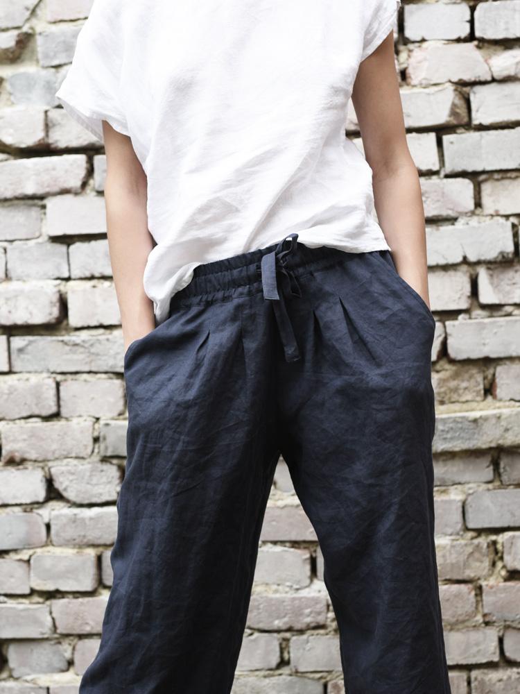 lniane spodnie na lato