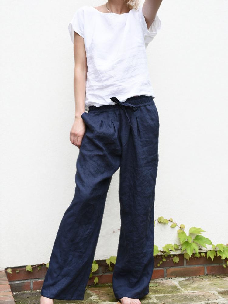lniana spodnie