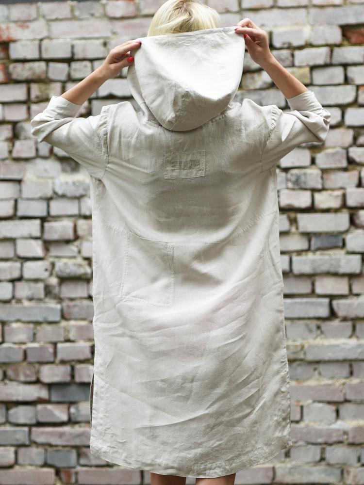 wygodna sukienka z lnu