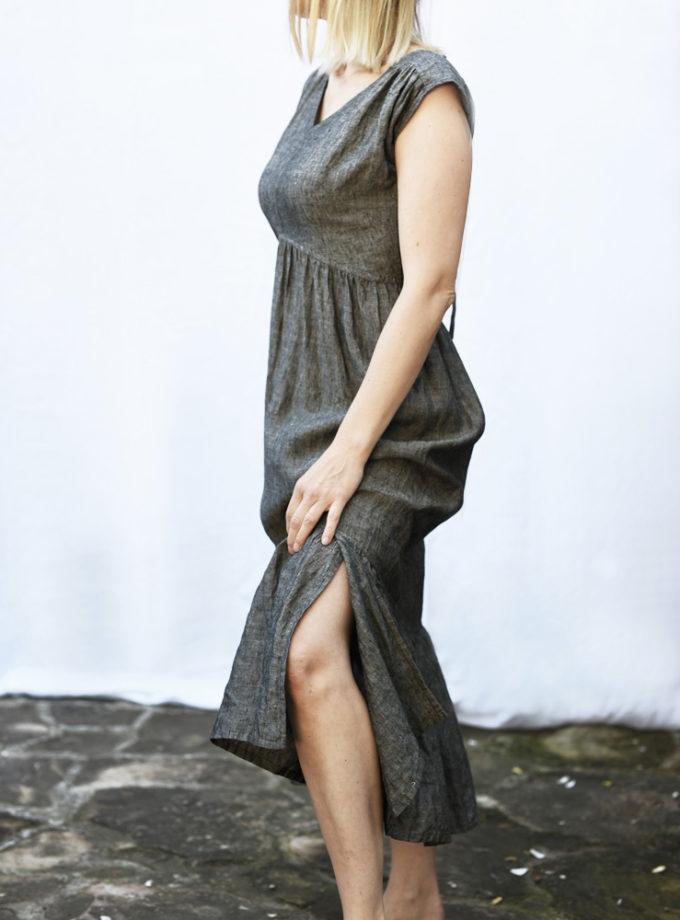 wygodna lniana sukienka