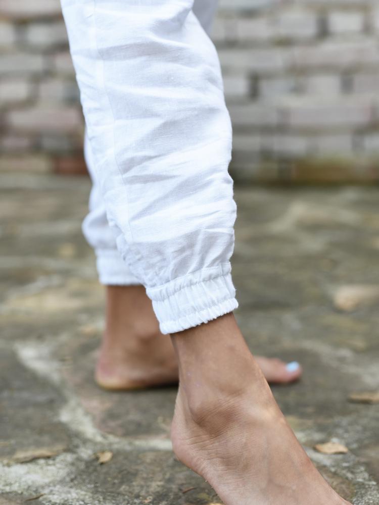 lniane damskie spodnie