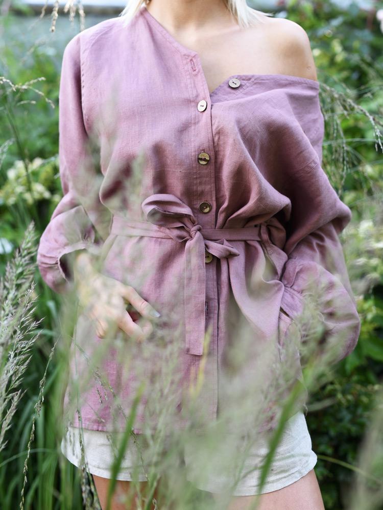 lniana kurtka na jesień