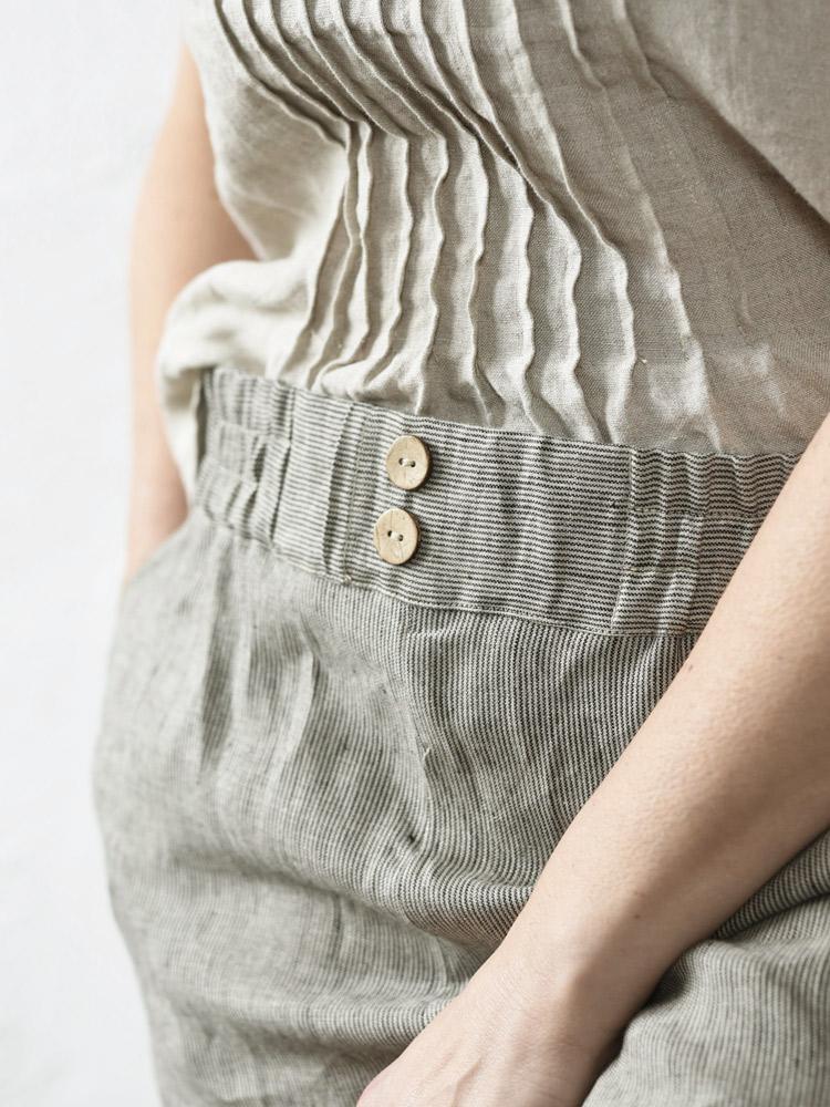 lniana bluzka na ramiączkach
