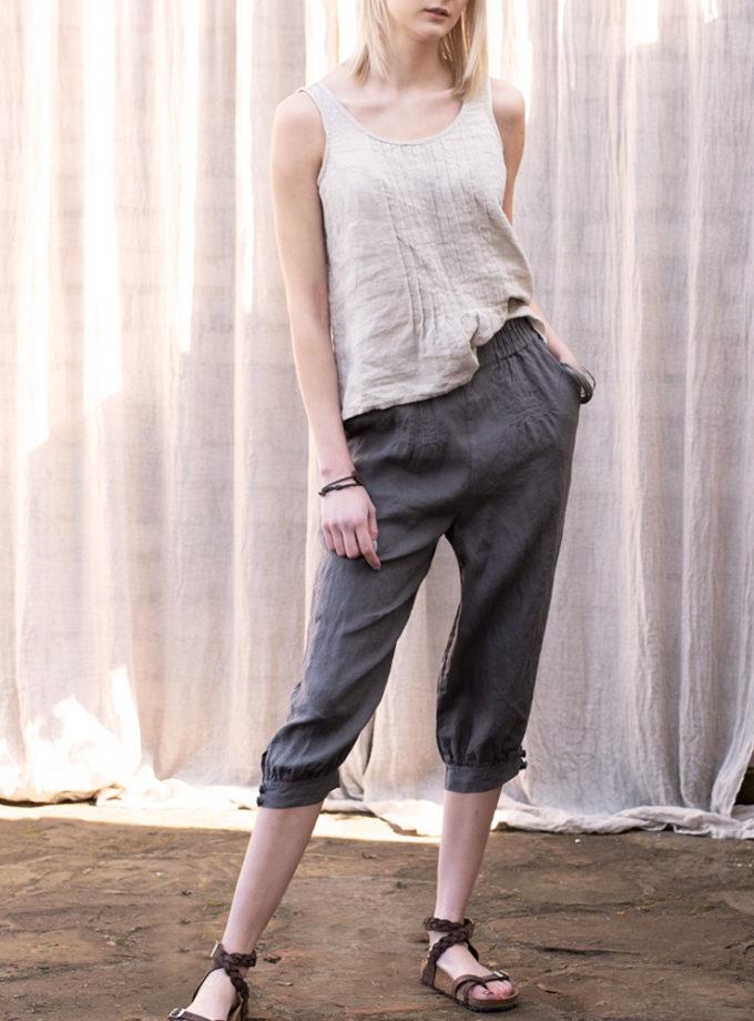 krótkie spodnie z lnu