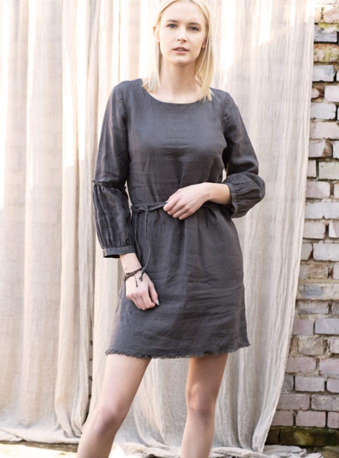 lniana krótka sukienka