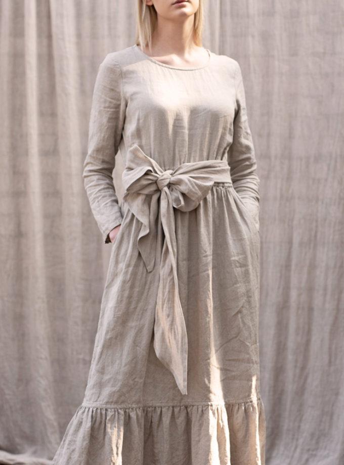 naturalna długa sukienka