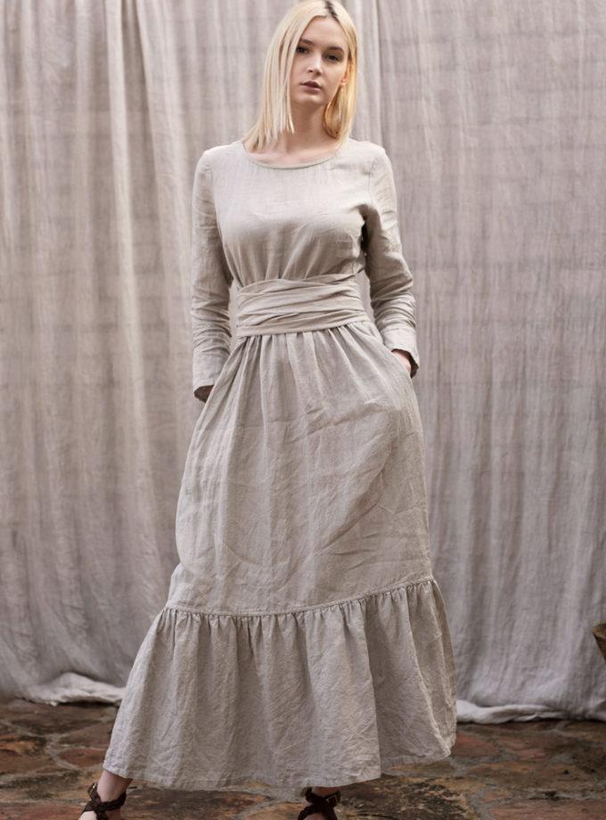 sukienka falbana pasek